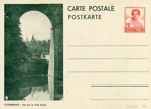 Luxembourg Vue sur la Ville Haute unused PS Card Cover