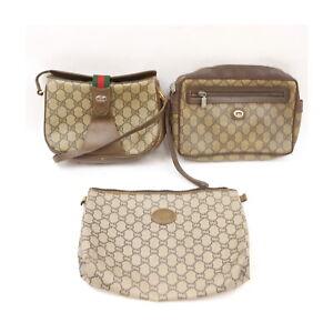 Gucci Gucci Plus 525321PVC Shoulder Bag Clutch 3 pieces set 525349