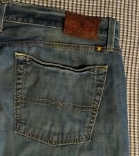 """Men Lucky Brand Jeans / 455 Relaxed Boot / Whiskers / 40 X 32 / (42"""" x 30 3/4"""")"""