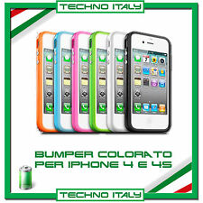COVER BUMPER CUSTODIA SLIM PER IPHONE 5 IN TPU PER  IPHONE 4/4S