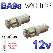 2 x Cool Bianco 12 V LED Luce Laterale BA9s 233 a baionetta Auto SCOOTER LAMPADINE LUMINOSE