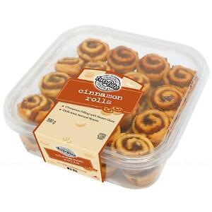 Two Bite Cinnamon Glazed Rolls Sweet Honey Glaze Rich Cakes Snack Pack of 890g