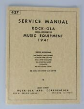 Rockola Service Manual Music Equipment 1941, Reprint