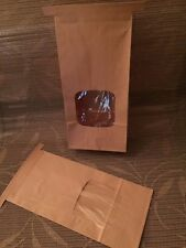 Bakery Bags Kraft Paper Poly Liner Tab-Lock clear Window New *1 lb size* 10 Pack