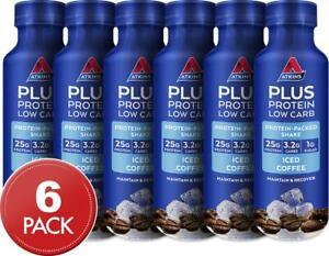 6 x Atkins Plus Protein Shake Iced Coffee 400mL