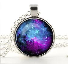 NEBULA Pendant Necklace Chain Hot Fashion Jewelry Galaxy Space Art for Women New