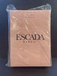 1996 Escada Barbie doll No. 15948 Limited Edition Pink Silk Gown LOOK READ