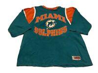 1997 Miami Dolphins NFL Football 3/4 Sleeve Shirt Vintage Size XL