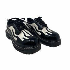 Skechers Vintage Black White Fat Cat Sam 90s Platform Shoes Womens 8.5 Mens 7