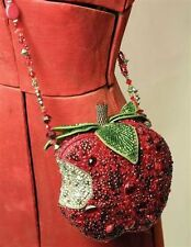 Mary Frances First Bite Apple Red Bead Purse Bag Handbag NEW