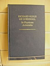 In Physicam Aristotelis (Auctores Britannici Medii Aevi - Richard Rufus Cornwall