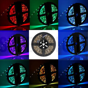 Waterproof 300Leds 5M RGB 5050 SMD LED Strip Light Flexible 12V Rope Lamp