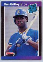 1989  KEN GRIFFEY JR. Donruss RATED ROOKIE Baseball Card # 33 - SEATTLE MARINERS