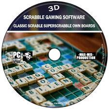 3D Scrabble Classic Superscrabble PC CD Logic Strategy Family Game