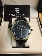 Lars Larsen Watch BNWT, boxed Alex Watch 119sblbl Black Strap & dial. RRP £145