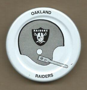 Oakland Raiders Gatorade Bottle Cap Lid Early 1970s NFL Football Helmet