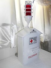 Gamewell 1950's AMERICAN RED CROSS Call Box Telephone Phone Fire Alarm Police