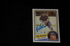 ROB RAMAGE 1984-85 TOPPS SIGNED AUTOGRAPHED CARD #134 BLUES