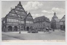 AK Paderborn, Rathaus und Gymnasium, 1930