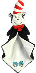 """DR SEUSS Cat in the Hat Luvster 20"""" Blanket Plush Soft Toy Comforter NEW"""