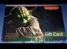 """FAMILY VIDEO GIFT CARD """"STAR WARS"""" 2015 YODA NO VALUE COLLECTIBLE NEW"""