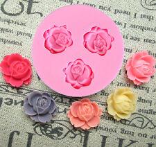 Diy Rose Flower Silicone Fondant Cake Chocolate Sugarcraft Decorating Mold Tool
