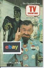SUPER RARE VTG 1965 GHOULARDI COVER CLEVELAND OHIO TV SHOWTIME GUIDE
