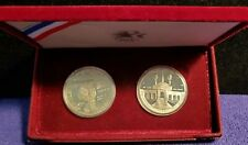 1983-S USA OLYMPIC SET OF 2 PROOF 90% SILVER DOLLAR COINS