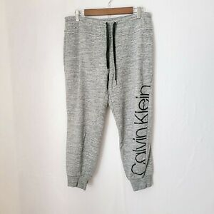 Calvin Klein Sweater Pants Gray Joggers Performance Women Size Medium Drawstring