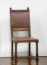 Carved Set Of 12 Antique French Renaissance Dining Side Chairs