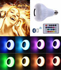 RGB LED Light 12W E27 Wireless Bluetooth Speaker Bulb Music Playing Lamp +Remote