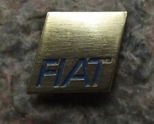Antique Fiat Italian Car Maker Marque Capital Letter Logo Square Pin Badge