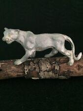 Vintage Miniatures Pewter Cougar Mountain Lion Puma Big Cat Figurine Preowned