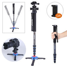 MANBILY C-222 CARBON FIBER PRO-DSLR MONOPOD, M1 BASE, KB-0 ALUMINUM BALL HEAD, 6