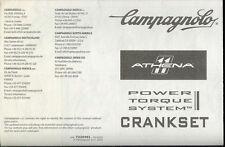 Orig Campagnolo Athena 11 Speed Bike Power Torque System Crankset Instructions