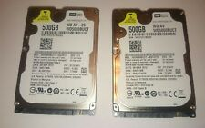 Zwei Festplatten. HDD 2,5 ZOLL, WD, 500 GB.