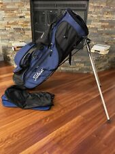 Titleist Stand Golf Bag -6 Way -Dual Strap -Lightweight -Blue/Black - Raincover