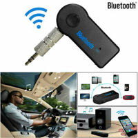 Wireless Bluetooth 3.5mm AUX Audio Stereo Music Car Receiver Adapter Mic Black
