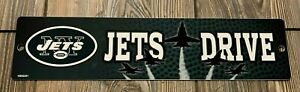 """NEW New York Jets Very Cool Premium Plastic """"Jets Drive"""" Novelty Street Sign"""