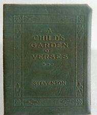 Stevenson - A Child's Garden of Verses - Book Little Leather Library Redcroft