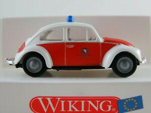 """Wiking 86102 VW Käfer 1200 (1960) """"Berufsfeuerwehr Zürich (CH)"""" 1:87/H0 OVP"""