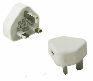 3-pin Universal USB Port CE Wall Charger Power Adapter Socket Plug For Phones