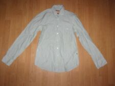 Hugo Boss Orange.  Blue & White striped mens Long sleeved shirt size M