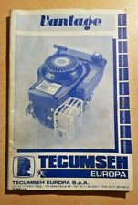 TECUMSEH VANTAGE LAWNMOWER engine Instruction Booklet