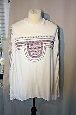 ZARA  embroidered boho hippie folk smock blouse size L 12 14
