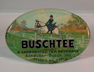 ca1920 ANHEUSER BUSCH BREWING COMPANY CELLULOID POCKET ADVERTISING MIRROR SODA