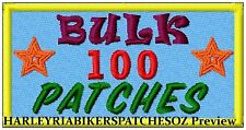CUSTOM/MADE TO ORDER SPECIAL BIKER EVENT RALLY PATCHES- 100 - BULK DEAL