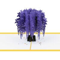 Kawaii Hollow Tree 3D Paper Greeting Card Birthday Festival Holiday Littl