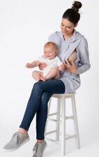 New Seraphine Maternity Nursing Hoodie Jumper Size Small Blue Powder
