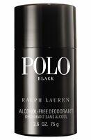 Polo Black Alcohol-Free Deodorant Stick Men, 2.6 Oz